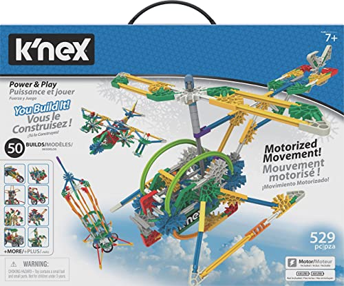 K?NEX Imagine - Power and Play Motorized Building Set - 529 Pieces - Ages 7 and Up - Construction Educational Toy