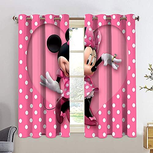 Cortinas con ojales de Mickey Minnie Mouse personalizadas, para decoración del hogar, 42 x 72 cm
