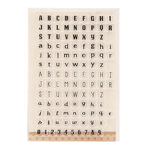 FXCO Buchstaben Zahlen Klar Silikon Dichtung Stempel Für DIY Album Scrapbooking Karte Decor
