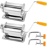 ZEONHEI 2 Pack Polymer Clay Press, Heavy Duty Stainless Steel Ultimate Clay Machine Craft Clay Machine, Clay Roller Mixers Presses for DIY Craft