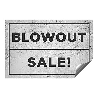 Basic Gray Heavy-Duty Industrial Self-Adhesive Aluminum Wall Decal 36x12 Blowout Sale