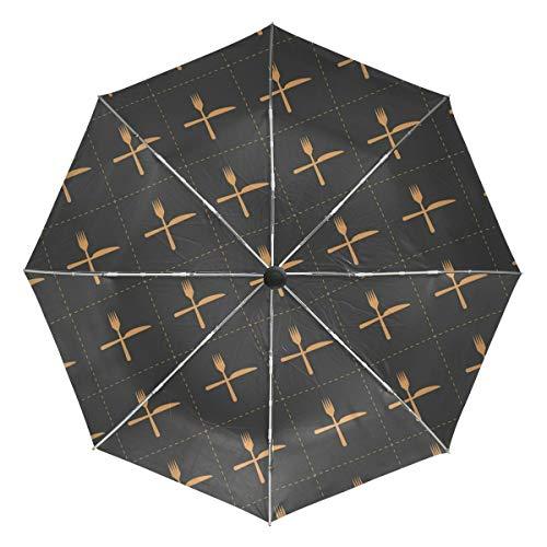Rootti - Paraguas ligero con 3 pliegues, diseño de cuchillo...