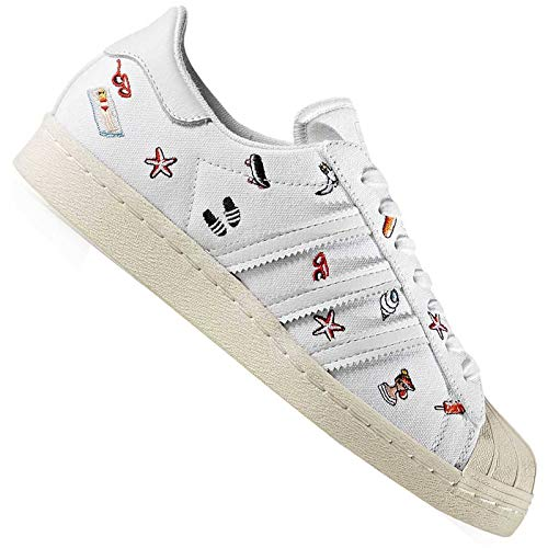 adidas Superstar 80s - Zapatillas de gimnasia para mujer, color Blanco, talla 39 1/3 EU