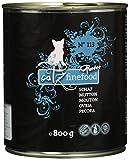 catz finefood Purrrr Schaf Monoprotein Katzenfutter nass N° 113, für ernährungssensible Katzen, 70% Fleischanteil, 6 x 800g Dose