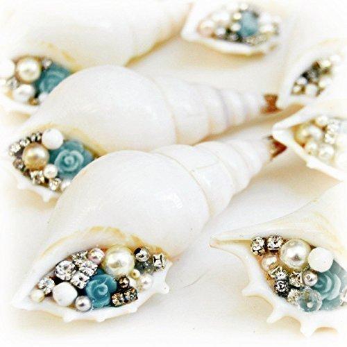 Vintage Jewelry Seashell Coastal Christmas Ornament (1)