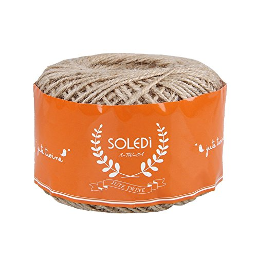 Soledi Natural Jute Twine String Rope100m Floral Craft Wedding Gift Tags Wrap Decor Decoration Ornament
