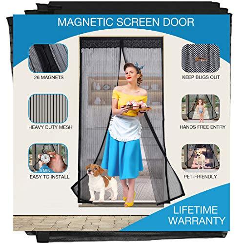 Magnetic Screen Door Heavy Duty, Fits Doors 35 x 80, 36 x 80, 36 x 82, 38 x...