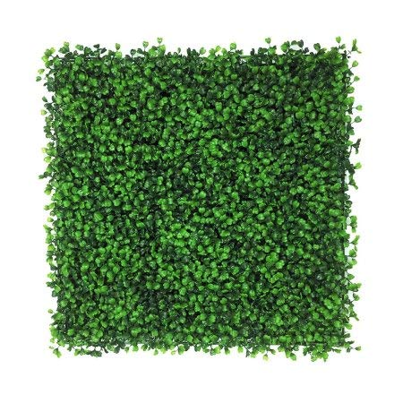 Artificial Boxwood Hedge, privacy hedge screen, UV Protected Faux Greenery Mats, boxwood wall, Suitable for Both Outdoor or Indoor, Garden, Backyard and Home Dcor,20 x 20 Inch (12 piece)
