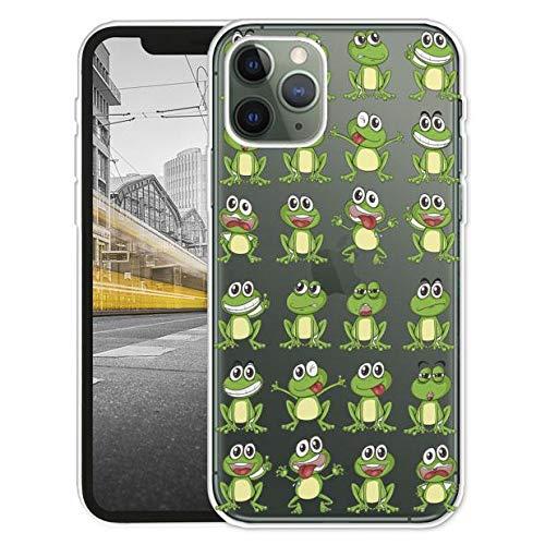 KX-Mobile Hülle für iPhone 11 Handyhülle Motiv 2024 Frosch Frösche Premium Silikonhülle Softcase HandyCover Handyhülle SchutzHülle für iPhone 11 Hülle