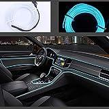 Striscia luminosa a LED flessibile con luci al neon, per auto, cavo elettroluminescente da 5 m, CC 12 V, per illuminazione a 360 gradi