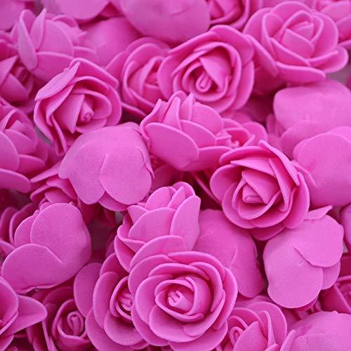 BLI 200 Piezas de 3 cm de Espuma Mini Rosas Flores Artificiales decoración de la Boda Fiesta DIY decoración Hecha a Mano Suministros de jardinería domésticacomo se Muestra