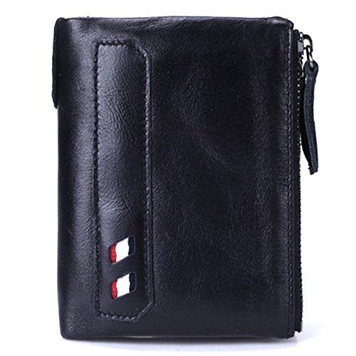 Uiophjkl mannen portemonnee kleur bijpassende lederen portemonnee met beide mannen en vrouwen tas draagbare zak portemonnee