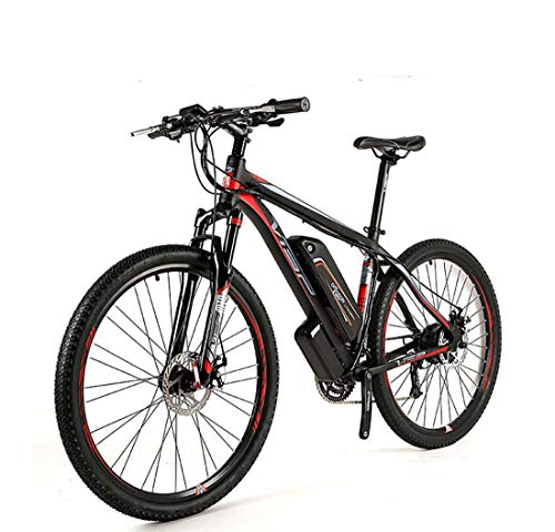 AISHFP Adult Electric Mountain Bike, 48V Lithium Battery All-Terrain Offroad Electric Bicycle, 27 Speed Aluminum Alloy Mens E-Bikes, with LCD Display,27.5Inch