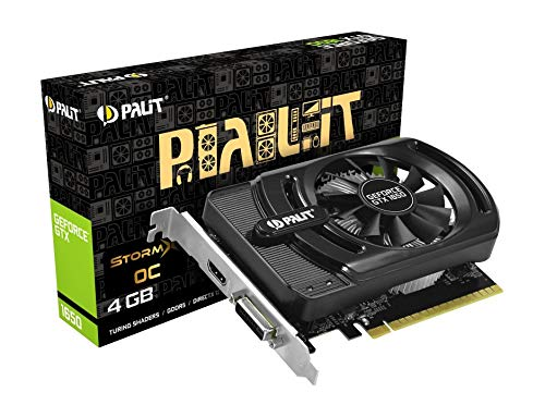 Palit GeForce GTX 1650 StormX OC 4 GB GDDR5 Grafikkarte (128 Bit, 4096 x 2160 Pixel, PCI Express X16 3.0)