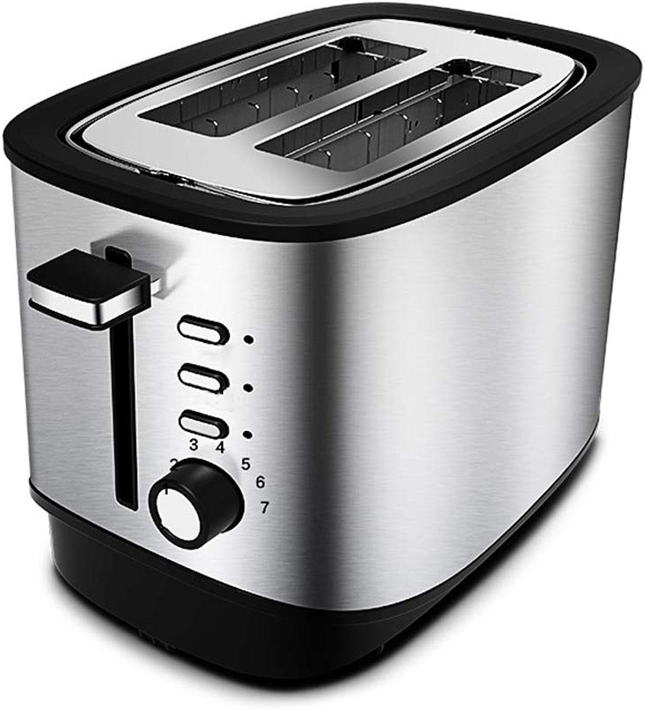 Grille-pain compact à 2 tranches avec 7 positions de Contrôle de bcouririssage variable Fentes grands Bac à ramasser amovible ramasse-pain Décongélation Préchauffage Annuler la fonction
