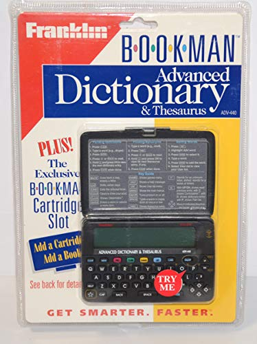 Merriam-Webster Advanced Dictionary & Thesaurus: BOOKMAN(R) (Electronic pocket model)
