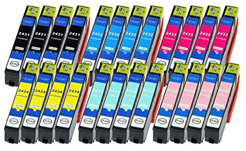 24 Druckerpatronen XL ersetzen Epson Nr.24XL T2431 T2432 T2433 T2434 T3435 T2436 geeignet z.B. für Epson Expression Photo XP 55 Photo XP-750 Photo XP-760 Photo XP-850 XP-860 Photo XP-950 Photo XP-960