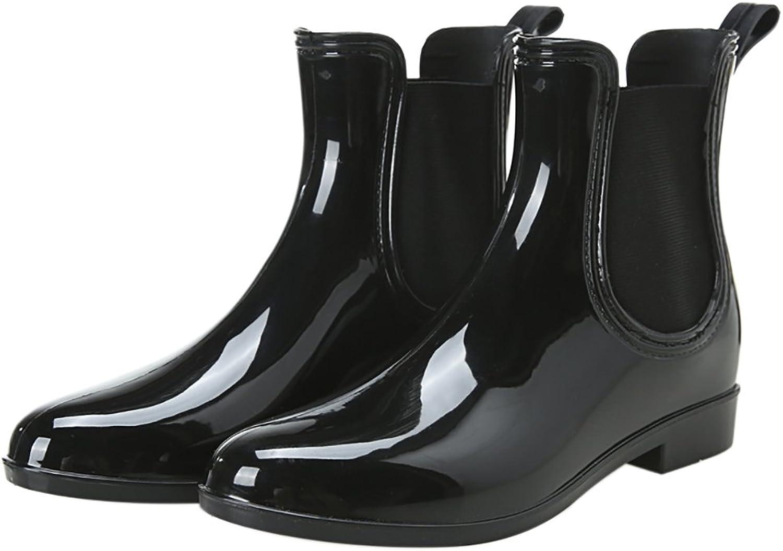 Women's Fashion Ankle High Rain Boots Anti-Slip Waterproof Rain shoes