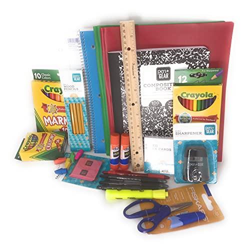 Back to School Supplies Essential Bundle – Bonus Backpack...