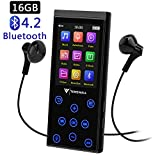 16GB Bluetooth MP3 Player, tragbarer störungsfreier HiFi Musikplayer mit FM-Radio/Voice-Recorder, 2.4 Zoll TFT