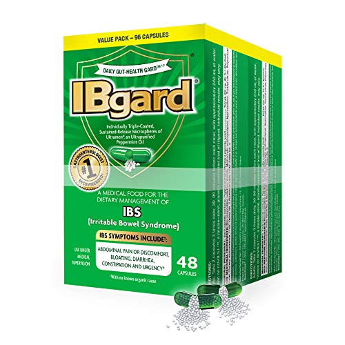 IBgard® for The Dietary Management of Irritable Bowel Syndrome (IBS) Symptoms Including, Abdominal Pain, Bloating, Diarrhea, Constipation†*, 96 Capsules