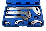 US PRO Adjustable Hook And Pin Wrench / Spanner / C Spanner 35 - 120mm 6pcs 6811