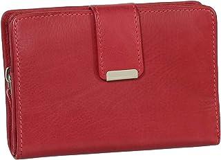 RFID Damen Leder Geldbörse Damen Portemonnaie Damen Geldbeutel - Farbe Rot - Geschenkset + exklusiven Ledershop24 Schlüsse...