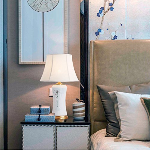 Lampara escritorio E Lámpara de mesa de cerámica - La mejor serie de lámparas de mesa de cerámica en Amazon Mall (EY18538) - Primera calidad de la clase