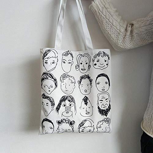 KDYSMWD Été Femmes Cartoon Canvas Art Print Messenger Bag Sac à bandoulière