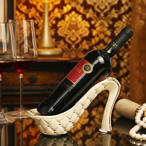LXD Estantes de Vino, Cerámica Tacones Altos Forma Creativa Moderno Vino Armario Decoración Sala de Estar Cocina Restaurante Hogar Práctico