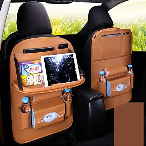 Liuxiaomiao Auto-opbergtas PU Lederen Car Back Seat Organizer & Kick Mat, Multipurpose Auto Seat Back Protector Back Seat Protector Met Tablet Houder Ruimtebesparende expert