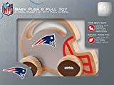Baby Fanatic NFL New England Patriots Push/Pull Toy, Team Color