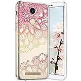 Compatible avec Xiaomi Redmi Note 3 Coque en Silicone Transparente Motif Mandala Fleur Jolie Housse...