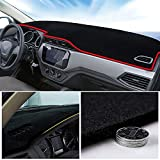 Custom Dashboard Mat Cover for Honda Civic 2001-2005 Dash Cover Nonslip Cover Mat Dash Protector Sun Cover Pad (Red Line)