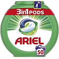 Ariel 3en1 Pods, Detergente en Cápsulas, Original, 50 Lavados, Limpieza Increíble, Limpia, Quita Manchas, Ilumina