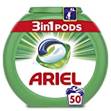 Ariel 3en1 Pods - Detergente En Cápsulas, Original, Limpieza Increíble, Limpia, Quita Manchas, Ilumina - 50Lavados