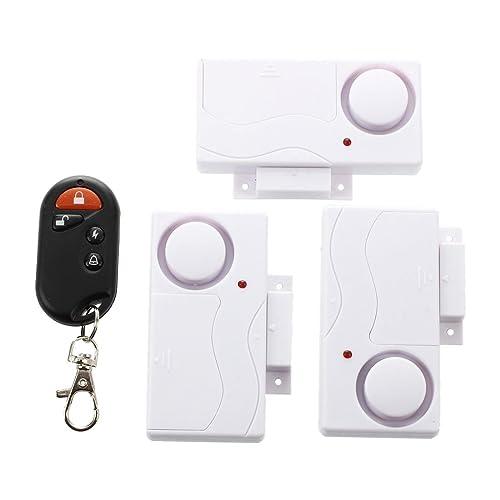 Sonline 3 pcs Fenetre Porte Capteur Magnetique Sans Fil Entree Systeme de Securite avec Telecommande