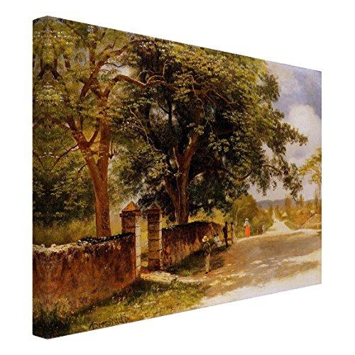 Bilderwelten Leinwandbild - Albert Bierstadt - Straßeansicht in Nassau - Quer 3:4, 30 x 40cm