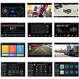 ANKEWAY 7 Pulgadas RDS Android Radio de Coche 2 DIN Llamadas Manos Libres Bluetooth Car Stereo 1080P HD Pantalla Táctil+WiFi+Navegación GPS+Cámara de Visión Trasera+USB Doble+Reproductor de Internet