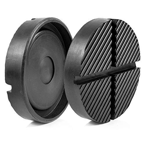 ZHUBANG ジャッキパッド 超高耐久 ゴム製ラバーパッド 汎用ジャッキアタッチメント 125mm X 26mm 2個入り