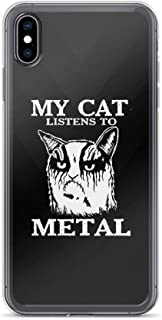 iPhone 6/6s Pure Clear Case Cases Cover My Cat Listen to Metal - Rock Fan TPU Anti Bumps Scratches Solid Cover