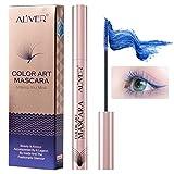 Color Mascara for Eyelashes(Multiple Colour), Waterproof and Smudgeproof Long Lasting, Softer and Fulle Lashes, Hypoallergenic Formula Mascara Wands, Mascara for Eyelash Eye Makeup (Blue)