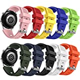 10 Packs Sport Bands Compatible with Samsung Galaxy Watch 3 45mm / Gear S3 Classic/Frontier/Galaxy Watch 46mm for Men Women, NAHAI 22mm Watch Band Silicone Replacement Strap for Garmin Vivoactive 4