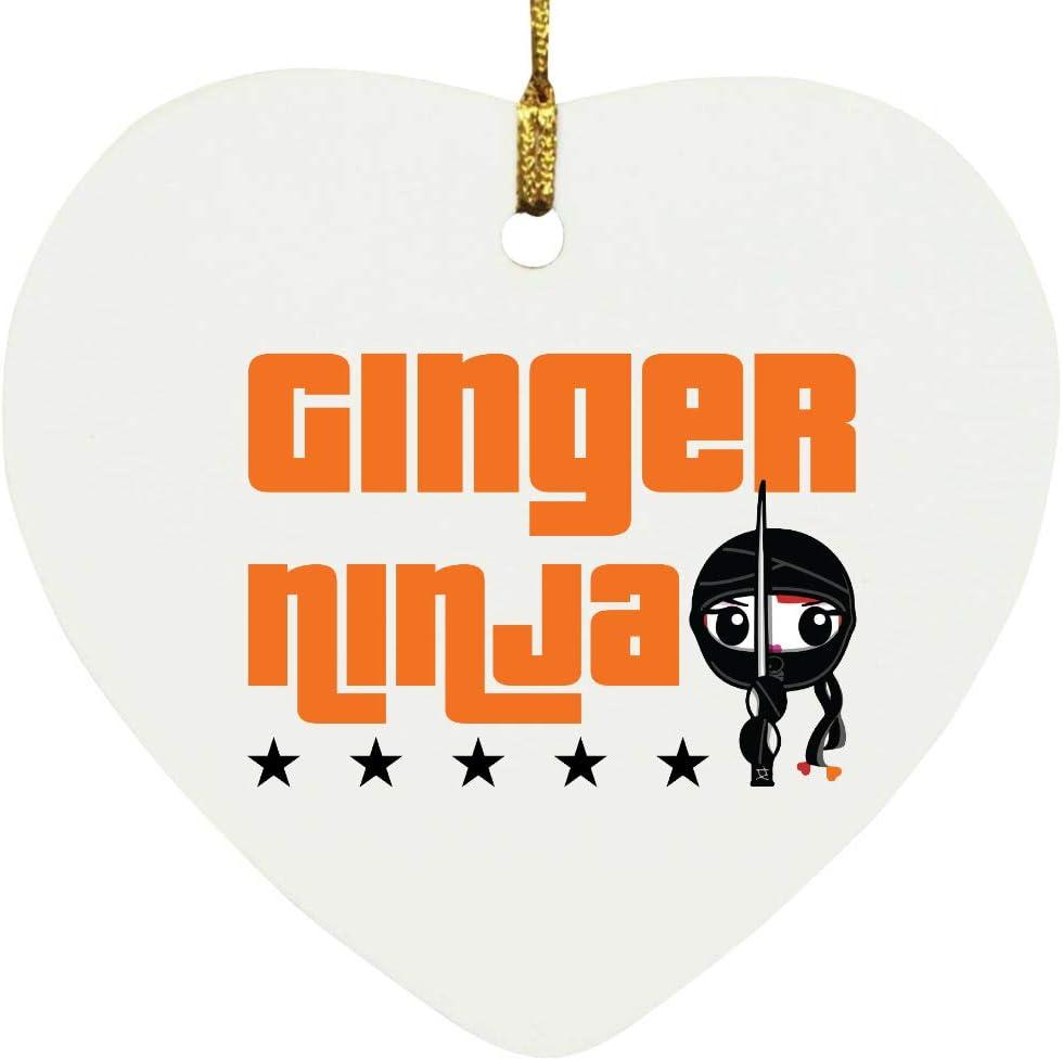 Regular discount Manufacturer direct delivery Ginger Ninja Hair Heart Ornament