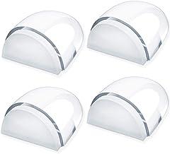 Junlic Deurstoppers vloer om te lijmen, set van 4 transparante zelfklevende vloerdeurstoppers geschikt voor alle harde vlo...
