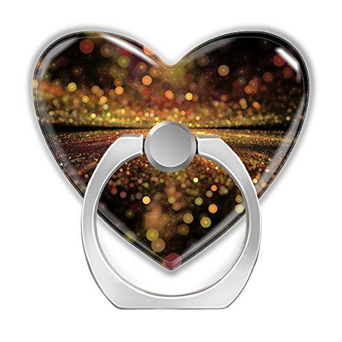 2 Pack SD Phone Ring Bracket Smart Mobile Phone Holder Self-Adhesive Colorful General Finger Ring Stand Love Heart Shaped Holder Mount Bracket Rotates 360° for Tablets Phone-3D Lighting