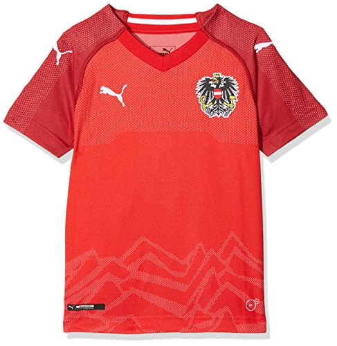 PUMA Austria Kinder Home Replica Shirt, Puma Red-Chili Pepper, 176