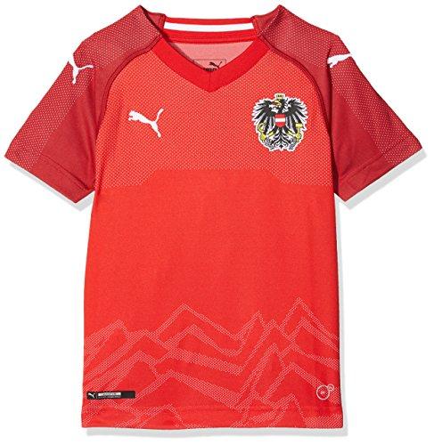 PUMA  Austria Kinder Home Replica Shirt, Puma Red-Chili Pepper, 128