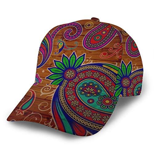 Gorra de béisbol de Madera de Cachemira rústica y Vintage,...