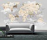 Papel Pintado Pared Dormitorio Fotomurales Decorativos Pared Tapiz De Pared 3D Pared De Fondo De Mapa Mundial De Dibujos Animados Pared Papel Pintado Cuadros Habitacion Bebe Posters Mural